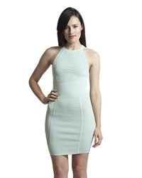 Parker | White Jamaica Knit Dress In Mist | Lyst
