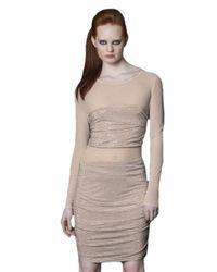 Sheri Bodell | Pink Crystal Illusion Dress | Lyst