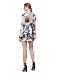 Keepsake Multicolor Keepsake Coming Home Abstract Print Long Sleeve Mini Dress