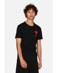 T-shirt broderie big Ami de Coeur AMI pour homme en coloris Black