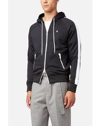 AMI Black Zipped Hoodie for men