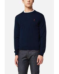 AMI - Blue Ami De Cœur Sweater for Men - Lyst