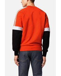 AMI Red Tricolour Sweatshirt for men