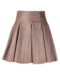 Plein Sud | Multicolor Leather Skirt In Taupe | Lyst
