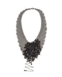 Jean-Francois Mimilla | Multicolor Steel Knit Necklace With Bead Detailing | Lyst