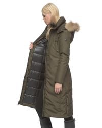 Andrew Marc Green Olympia Fur-Trimmed Down Coat