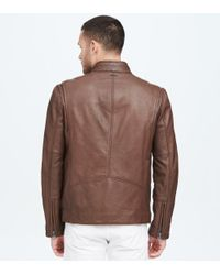 Andrew Marc - Brown Horace Classic Leather Moto Jacket for Men - Lyst