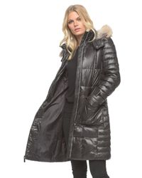 Marc New York - Black Adrianne Quilted Parka Jacket  - Lyst