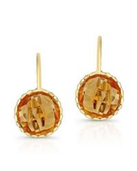 Anne Sisteron Metallic 14kt Yellow Gold Citrine Earrings