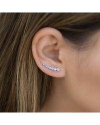 Anne Sisteron - Metallic 14kt White Gold Black Diamond Shooting Star Ear Climber - Lyst