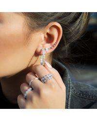 Anne Sisteron - Metallic 14kt White Gold Diamond Horn Pinkie Ring - Lyst