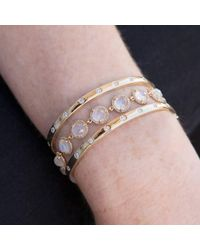 Anne Sisteron - Metallic 14kt Yellow Gold Rainbow Moonstone Bracelet - Lyst