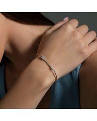 Anne Sisteron Metallic 14kt White Gold Diamond Cupid Bracelet