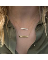 Anne Sisteron Metallic 14kt Rose Gold Baguette Diamond Brick Necklace