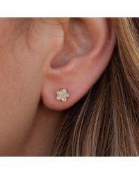 Anne Sisteron Multicolor 14kt White Gold Mini Flower Stud Earrings