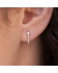 Anne Sisteron - Metallic 14kt Rose Gold Diamond Hook Stud Earrings - Lyst