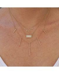 Anne Sisteron - Pink 14kt Rose Gold Diamond Chevron Crown Necklace - Lyst