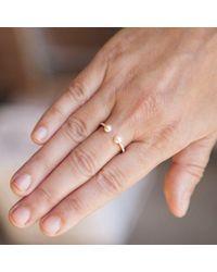 Anne Sisteron - Metallic 14kt Yellow Gold Diamond Pearl Tastemaker Ring - Lyst