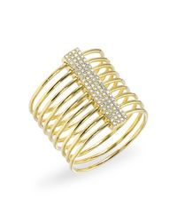 Anne Sisteron - Metallic 14kt Yellow Gold Diamond Slink Ring - Lyst