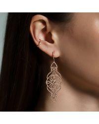 Anne Sisteron Metallic 14kt Yellow Gold Diamond Manoir Diamond Earrings