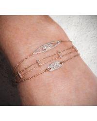 Anne Sisteron - 14kt White Gold Diamond Base Bar Bracelet for Men - Lyst