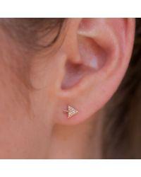 Anne Sisteron - 14kt Yellow Gold Diamond Split Arrow Stud Earrings - Lyst