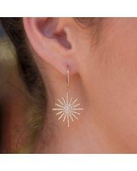 Anne Sisteron - Pink 14kt Rose Gold Diamond Aurora Sun Earrings - Lyst