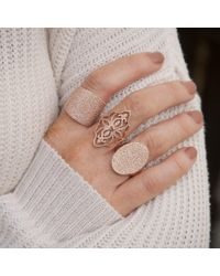 Anne Sisteron - Pink 14kt Rose Gold Diamond Shieldmaiden Ring - Lyst