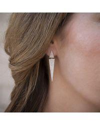 Anne Sisteron Multicolor 14kt White Gold Diamond Double Triangle Earrings