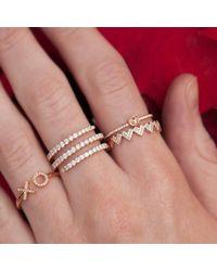 Anne Sisteron Metallic 14kt Rose Gold Diamond Solitaire Ring