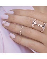 Anne Sisteron - Metallic 14kt Rose Gold Diamond Horn Pinkie Ring - Lyst