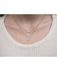 Anne Sisteron Multicolor 14kt Rose Gold Bezel Set Diamond Short Bar Necklace