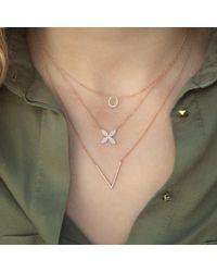 Anne Sisteron Metallic 14kt Yellow Gold Diamond V Necklace
