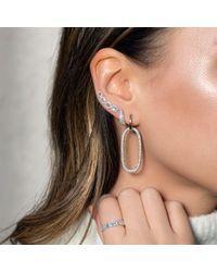 Anne Sisteron Metallic 14kt Yellow Gold Diamond Bold Huggie Earrings
