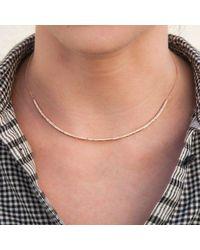Anne Sisteron Metallic 14kt Rose Gold Diamond Abby Choker Necklace