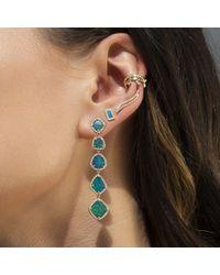 Anne Sisteron Metallic 14kt Rose Gold Diamond Flame Ear Climber