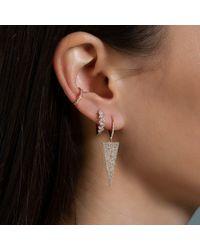 Anne Sisteron Metallic 14kt Yellow Gold Diamond Triangle Drop Earrings