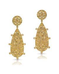Anne Sisteron Metallic 14kt Yellow Gold Diamond Empire Earrings