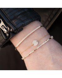 Anne Sisteron Metallic 14kt Rose Gold Diamond Disc Chain Bracelet