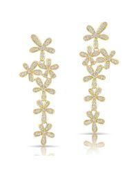 Anne Sisteron - Metallic 14kt Yellow Gold Diamond Wildflower Earrings - Lyst