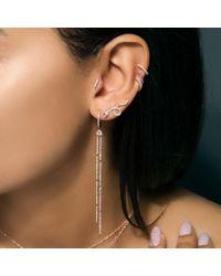 Anne Sisteron Metallic 14kt Yellow Gold Diamond Mini Bar Stud Earrings