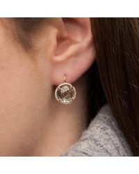 Anne Sisteron Multicolor 14kt Yellow Gold Green Amethyst Diamond Round Earrings