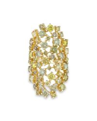 Anne Sisteron | Metallic 14kt Yellow Gold Colored Diamond Stella Ring | Lyst