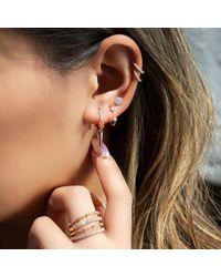 Anne Sisteron - Multicolor 14kt White Gold Diamond Demi Earrings - Lyst