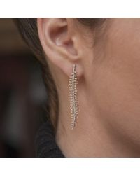 Anne Sisteron Metallic 14kt Yellow Gold Diamond Spine Earrings