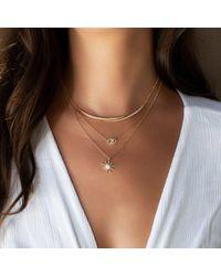 Anne Sisteron Metallic 14kt White Gold Diamond Horn Wrap Necklace