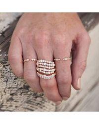 Anne Sisteron Multicolor 14kt White Gold Diamond Pierce Ring