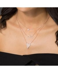 Anne Sisteron Metallic 14kt Rose Gold Diamond Heart Necklace