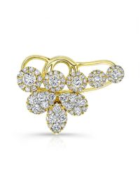 Anne Sisteron   Metallic 18kt Yellow Gold Diamond Carrie Ear Cuff   Lyst