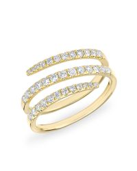 Anne Sisteron | Metallic 14kt Yellow Gold Half Diamond Spring Ring | Lyst